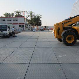 plaques de roulage Stabéco de Stabline sur la croisette à Cannes