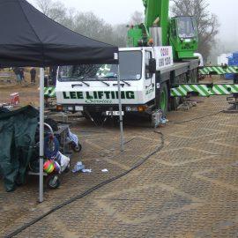 chantiers utilisant des plaques de roulage Stabmax de Stabline