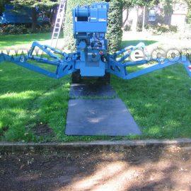 protection du gazon grâce aux plaques de roulage Stabplates par Stabline