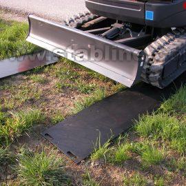 chemin de plaques de roulage Stabplates par Stabline pour pelleteuse