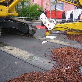 plaques de roulage Stabplates par Stabline pour faciliter le déplacement sur les chantiers urbains