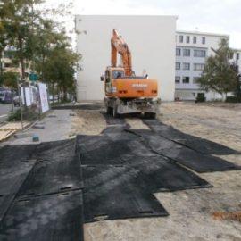 protection du sol grâce aux plaques de roulage Stabplates de Stabline