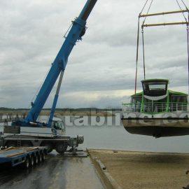 utilisation des plaques de calage Stabéco de Stabline sur chantier en zone maritime