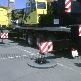 plaque de calage Stabline pour machines de chantier
