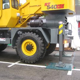 camion sur des plaques de calage Stabline