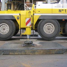 plaque de calage pour consolider la stabilité des camions