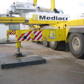 immobilisation d'un camion avec les plaques de calage Stabéco de Stabline