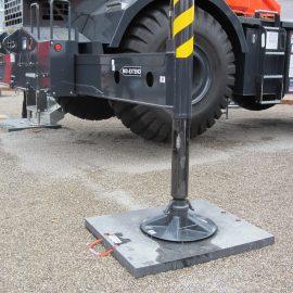 plaque de calage Stabline pour stabiliser un camion