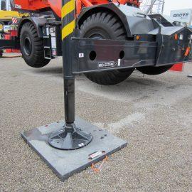 stabilisation d'un camion avec une palque de calage Stabline