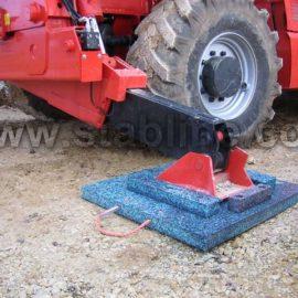 plaques de calage et minipads Stabline pour stabiliser un camion