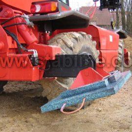 transport des plaques de calage et minipads Stabline par un camion