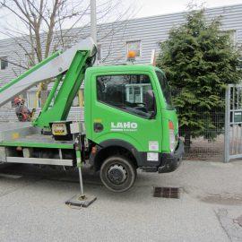 camion utilisant une plaque de calage Stabline